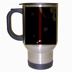 Christmas Giraffe  Travel Mug (silver Gray)