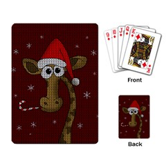 Christmas Giraffe  Playing Card