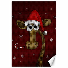 Christmas Giraffe  Canvas 20  X 30