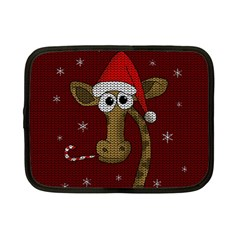 Christmas Giraffe  Netbook Case (small)
