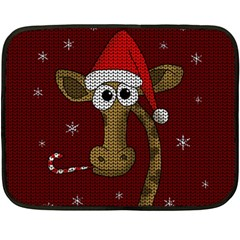 Christmas Giraffe  Fleece Blanket (mini)