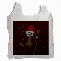 Christmas Giraffe  Recycle Bag (one Side)