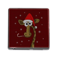 Christmas Giraffe  Memory Card Reader (square)