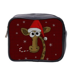 Christmas Giraffe  Mini Toiletries Bag 2 Side