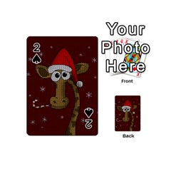 Christmas Giraffe  Playing Cards 54 (mini)
