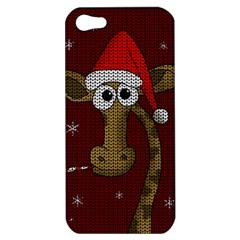 Christmas Giraffe  Apple Iphone 5 Hardshell Case
