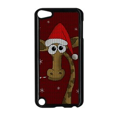 Christmas Giraffe  Apple Ipod Touch 5 Case (black)