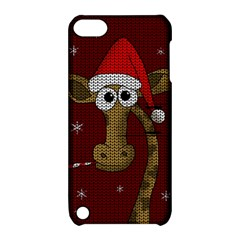 Christmas Giraffe  Apple Ipod Touch 5 Hardshell Case With Stand