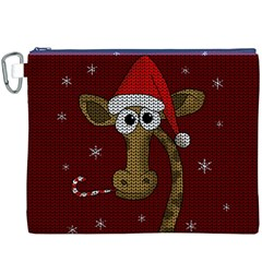 Christmas Giraffe  Canvas Cosmetic Bag (xxxl)