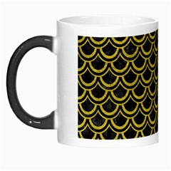 Scales2 Black Marble & Yellow Leather (r) Morph Mugs