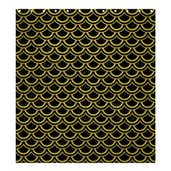 Scales2 Black Marble & Yellow Leather (r) Shower Curtain 66  X 72  (large)
