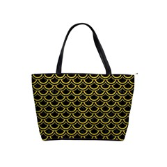 Scales2 Black Marble & Yellow Leather (r) Shoulder Handbags