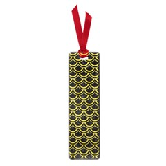 Scales2 Black Marble & Yellow Leather (r) Small Book Marks