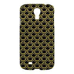 Scales2 Black Marble & Yellow Leather (r) Samsung Galaxy S4 I9500/i9505 Hardshell Case