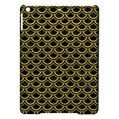 Scales2 Black Marble & Yellow Leather (r) Ipad Air Hardshell Cases
