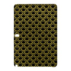 Scales2 Black Marble & Yellow Leather (r) Samsung Galaxy Tab Pro 12 2 Hardshell Case