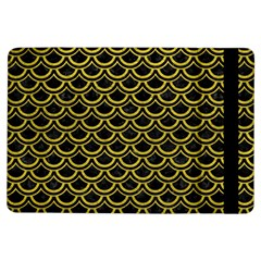 Scales2 Black Marble & Yellow Leather (r) Ipad Air Flip
