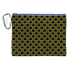 Scales2 Black Marble & Yellow Leather (r) Canvas Cosmetic Bag (xxl)