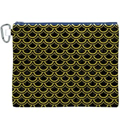 Scales2 Black Marble & Yellow Leather (r) Canvas Cosmetic Bag (xxxl)