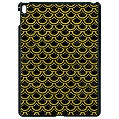 Scales2 Black Marble & Yellow Leather (r) Apple Ipad Pro 9 7   Black Seamless Case