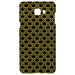 Scales2 Black Marble & Yellow Leather (r) Samsung C9 Pro Hardshell Case