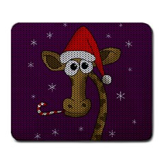 Christmas Giraffe  Large Mousepads