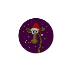 Christmas Giraffe  Golf Ball Marker