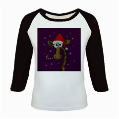 Christmas Giraffe  Kids Baseball Jerseys