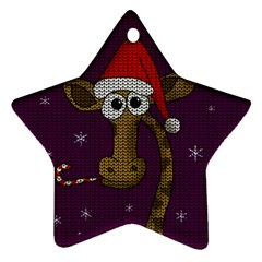 Christmas Giraffe  Star Ornament (two Sides)