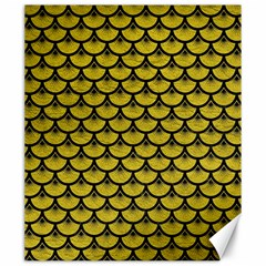 Scales3 Black Marble & Yellow Leather Canvas 20  X 24