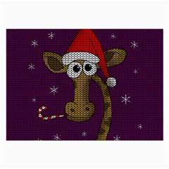 Christmas Giraffe  Large Glasses Cloth (2 Side)
