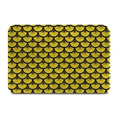 Scales3 Black Marble & Yellow Leather Plate Mats