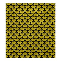 Scales3 Black Marble & Yellow Leather Shower Curtain 66  X 72  (large)