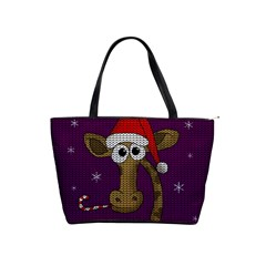 Christmas Giraffe  Shoulder Handbags
