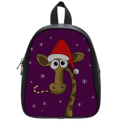 Christmas Giraffe  School Bag (small)