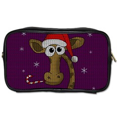 Christmas Giraffe  Toiletries Bags 2 Side