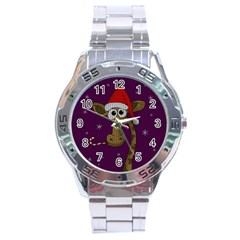Christmas Giraffe  Stainless Steel Analogue Watch