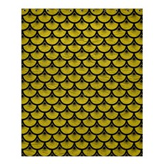 Scales3 Black Marble & Yellow Leather Shower Curtain 60  X 72  (medium)