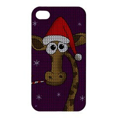 Christmas Giraffe  Apple Iphone 4/4s Hardshell Case