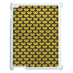 Scales3 Black Marble & Yellow Leather Apple Ipad 2 Case (white)