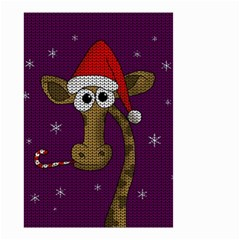 Christmas Giraffe  Small Garden Flag (two Sides)