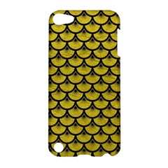 Scales3 Black Marble & Yellow Leather Apple Ipod Touch 5 Hardshell Case