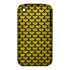 Scales3 Black Marble & Yellow Leather Iphone 3s/3gs