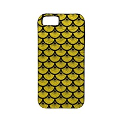 Scales3 Black Marble & Yellow Leather Apple Iphone 5 Classic Hardshell Case (pc+silicone)
