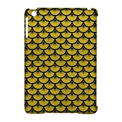 Scales3 Black Marble & Yellow Leather Apple Ipad Mini Hardshell Case (compatible With Smart Cover)