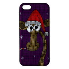 Christmas Giraffe  Apple Iphone 5 Premium Hardshell Case