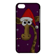 Christmas Giraffe  Apple Iphone 5c Hardshell Case