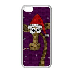 Christmas Giraffe  Apple Iphone 5c Seamless Case (white)