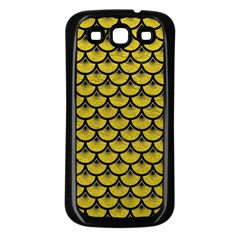 Scales3 Black Marble & Yellow Leather Samsung Galaxy S3 Back Case (black)
