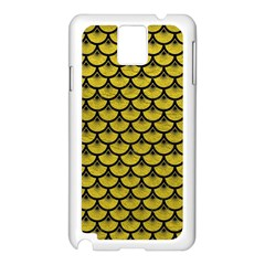 Scales3 Black Marble & Yellow Leather Samsung Galaxy Note 3 N9005 Case (white)